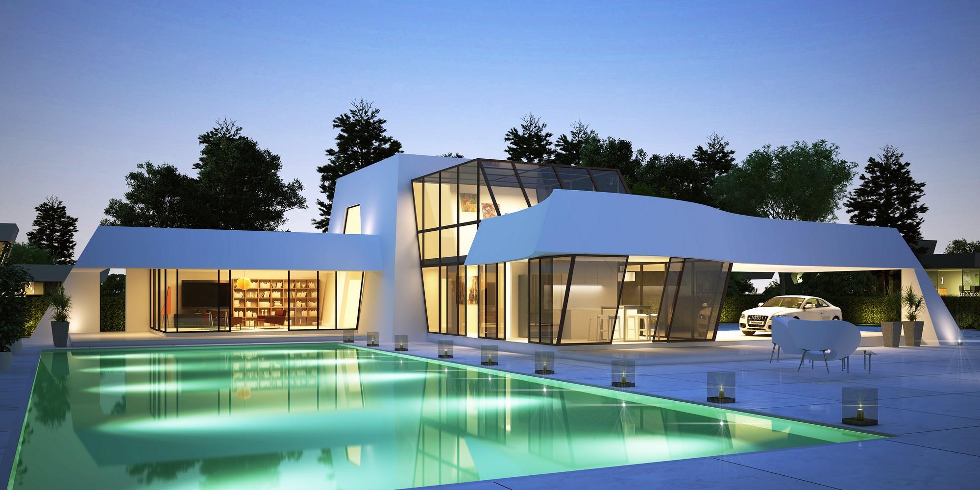 Casas de lujo que te dar n ideas para la reforma de tu piso for Piani del cortile con piscine