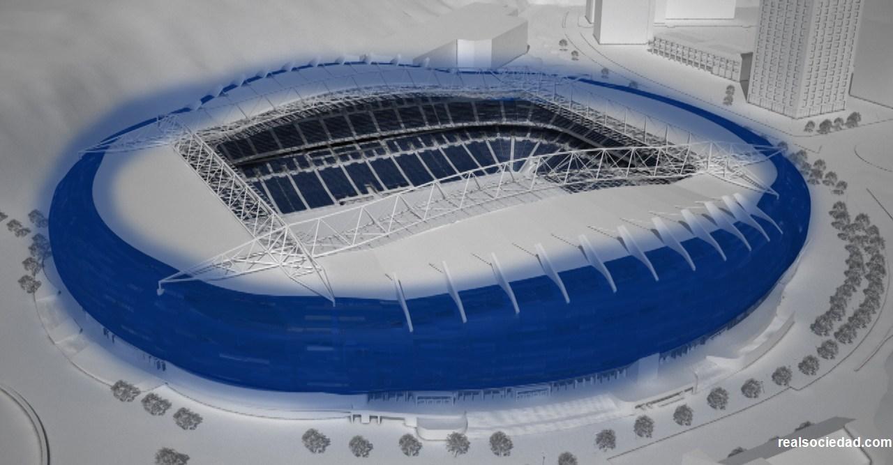 El estadio de anoeta de san sebastián ya ha comenzado su reforma. para 2019 la real sociedad tendrá un campo sin pistas de atletismo